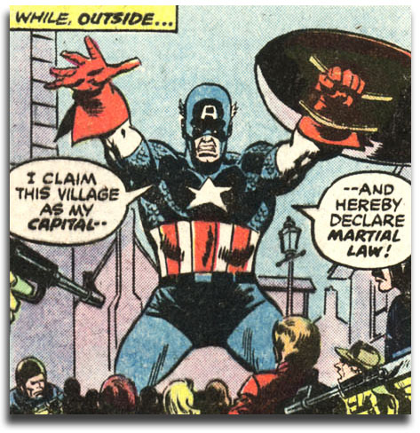 Captain America #221 - Ameridroid declares martial law!