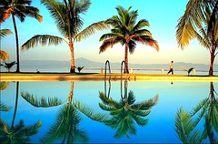 The Coco Walk (jeridaking) Tags: reflection sky blue coconut vivid colors green tree walk pool sabin ormoc leyte visayas pinoy philippines asia resort sunrise magsanga bay sea waters hotel iipcphoto southeastasia jeridaking fortheloveofphotography ralph matres pilipinas wwwiipcphotocom iipc canon 350d rebelxt filipino ormocanon ormocphotographer leytephotographer bisaya bisdak