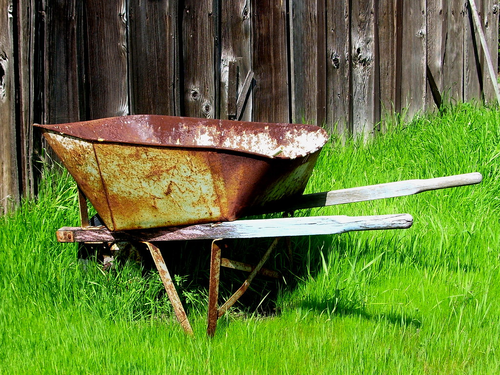 wheelbarrow, azevedo ranch