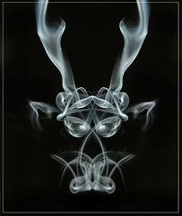 Smoke Creature with Antlers (Lumendipity) Tags: abstract art sdr smoke alien creature smokeart smokephotography lumendipity yesthisissmoke wwwlumendipitycom