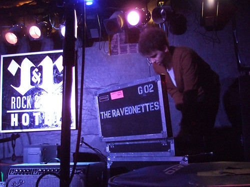 The Raveonettes' Sune Rose Wagner sets up.