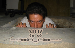20060811 - Tribute To Killroy and The Capture Of Saddam Hussein - 104-0423 - Clint in the hole