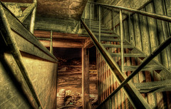 Upstairs (balsamia) Tags: building industry stairs nightshot hdr 2h 10mm moirana abigfave koksverket