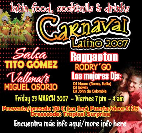 Flyer Carnaval Latino