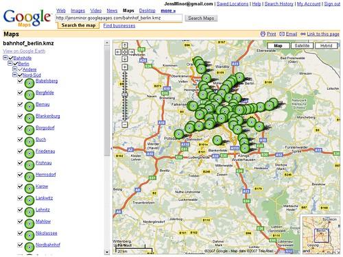 Google Maps Dateianzeige