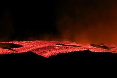 Lava flow at Etna (╬Thomas Reichart ╬) Tags: italy volcano lava italia december glow sicily flowing fracture etna sicilia vulkan lavaflow Ätna 2800m southeastcrater