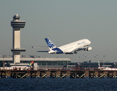 A380 Taking Off From JFK