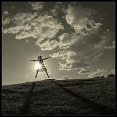 ... Gravity free ... (Laurent Filoche) Tags: new shadow sun girl backlight freedom jump nikon bravo legs exhibition zealand clementine soe 333views firstquality fivestarsgallery bonzography artlibre diamondclassphotographer flickrdiamond