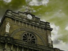 cathedral tone (jobarracuda) Tags: sky church lumix philippines manila catholicchurch manilacathedral fz50 panasoniclumix jobarracuda