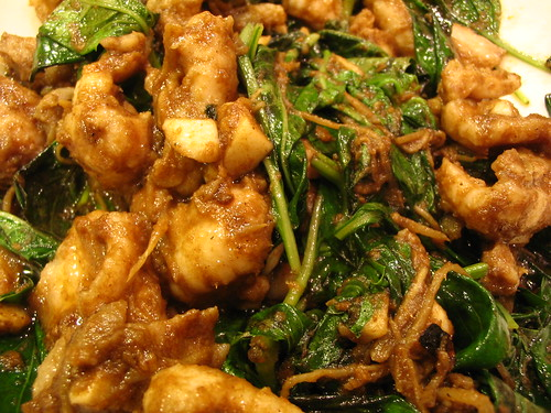Stir-fried snake.