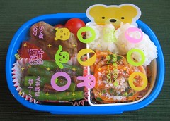 Antibacterial bento sheet in action