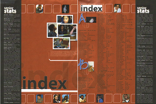 Yearbook Index Layout | Flickr - Photo Sharing!