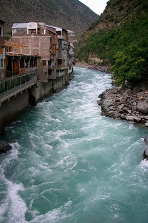 Bahrain,Swat , Pakistan - Swat River