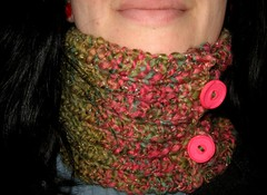 pink and green cowl