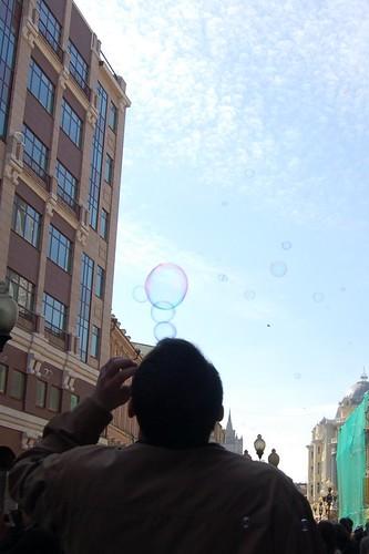 Летящие пузырики