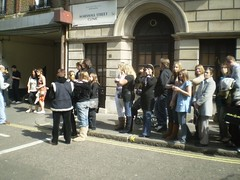 Queuing to see WAGs