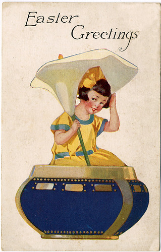 Postcard: Easter Greetings Girl