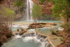 travertine pools (david haggard) Tags: blue arizona waterfall pools travertine supai havasupai havasufalls mywinners abigfave flickrfavoritephotographers