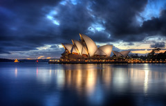 opera house at dawn hdr