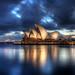 opera house at dawn hdr