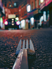 Fork In The Road (O Caritas) Tags: street nyc newyorkcity newyork found chinatown fork ground plastic april newyorknewyork 2007 thebigapple nikoncoolpix8800 forkgroup dscn0546 2007bypatricktpowerallrightsreserved