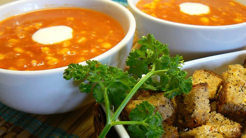 sweetcorn n tomato soup8