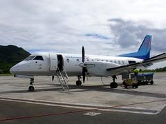 Air Rarotonga Saab-340 (P F C 2) Tags: tarmac polynesia airport aircraft aviation cybershot airline southpacific cookislands rarotonga turboprop rar raro oceania saab340 sonydscv3 airrarotonga