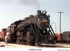 TVRM 2-8-0 630 (Robert W. Thomson) Tags: railroad chattanooga train tennessee railway southern locomotive trainengine 280 southernrailway tennesseevalleyrailroadmuseum