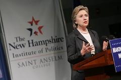 Sen. Hillary Clinton at the NHIOP
