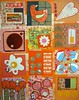Orange Paper Quilt Collage