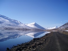 (Lilja Dgg) Tags: snow reflection nature water iceland mirrow montains olafsfjordur