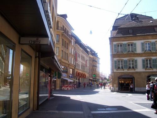 Le centre ville de Neuchâtel
