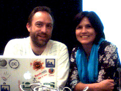 Me and Jimmy Wales