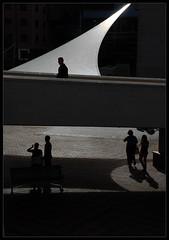 /( Civic Square (Laurent Filoche) Tags: street newzealand silhouette nikon shadows wellington civicsquare supershot bonzography BendingLight:Feature=jeong streetportfolio blackportfolio tracesexhibition