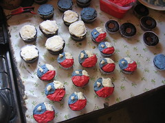 Chilean flag cupcakes