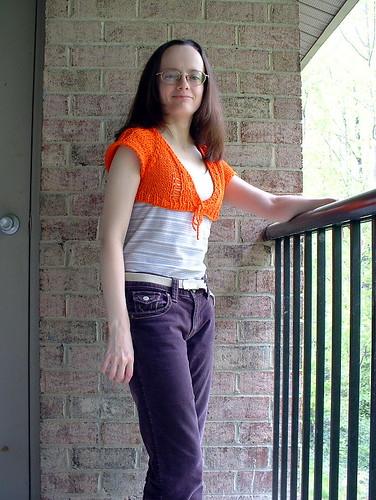 Orange shrug