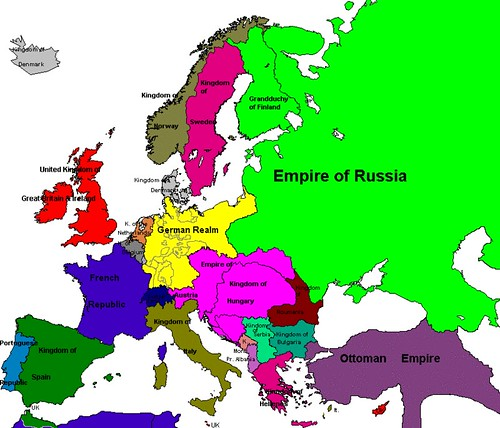 Map Of Europe 1914. Map of Europe in 1914