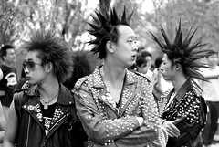 MIDI Punks (China Chas) Tags: china people bw music festival rock hair punk beijing fv5 midi 2007 50mmf18 punkrockers mainlanderchina