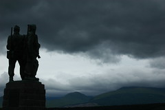 scotish commando memorial (Christopher Wallace) Tags: sky cloud inspiration storm trooper monument statue dark dead soldier grey scotland memorial war europe solitude view military gray attack scenic dramatic stormy battle assault mission brave guns heroes worldwar axis heroic troop commando protect commandos daring allies warfare