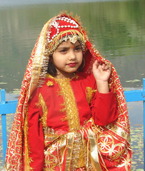 The Bridal dress (VIjay Pandey) Tags: blue red vijay india mountain lake cute green girl kids river kid dress delhi bridal nainital pandey naturesfinest bridaldress impressedbeauty ultimateshot vijaypandey