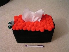 ikura sushi tissue cozy (kitkabbit) Tags: japanese felt plush swap kawaii craftster