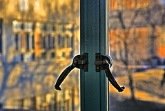 Double Locked (FotoEdge) Tags: water glass colors stone clouds sunrise reflections glow shadows rich deep warmth missouri springs dreams minerals richness winds moods patina hotsprings hallofwaters excelsiorsprings tiled waterbar grittiness doublelocked longestintheworld