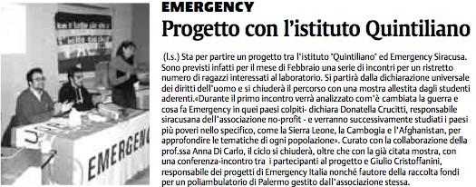 La Sicilia, edizione del 14 gennaio 2007