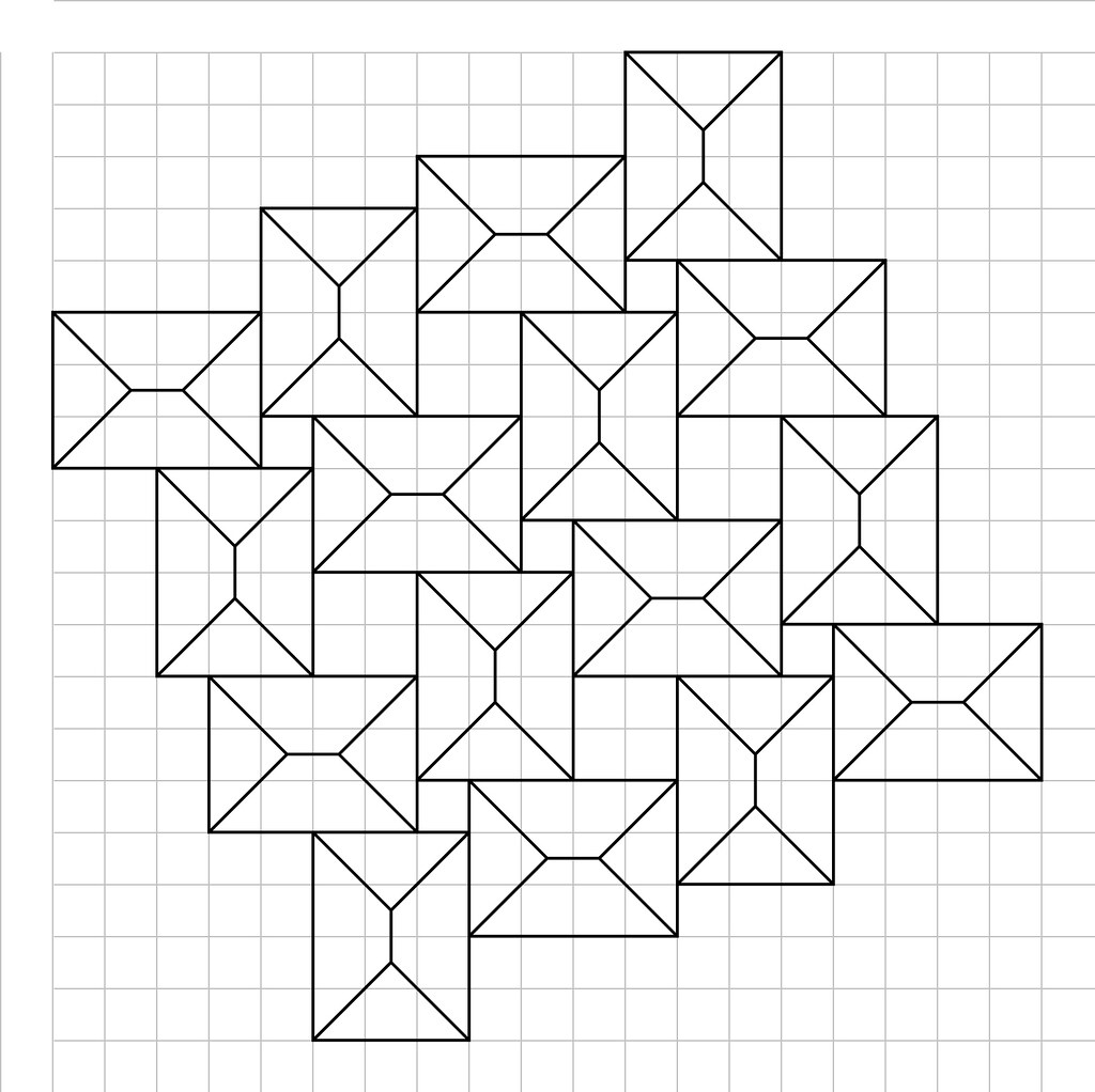 Crease Pattern For Squares Flagstone Tessellation Paper Mosaics Tags Origami Bateman Creasepattern