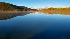 Sunny Day Oxbow Bend Reflections (Fort Photo) Tags: travel blue sun mountains color nature reflections landscape ilovenature bravo day nps quality wyoming tetons 169 2007 grandtetonnationalpark splendiferous magicdonkey 50faves specnature abigfave anawesomeshot flcikrgold