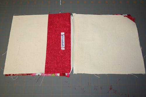 back side of wristlet after zipper is done