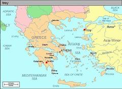 Kedudukan kota Troy & kota Sparta
