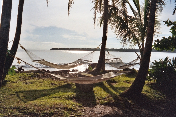 Hammocks by Caribbean in Costa Rica