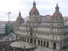 Coruña Liberal con el Foro Ermua en María Pita el 3 de marzo de 2007