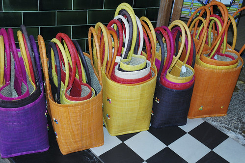 baskets on tiles